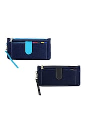 Multi Colored Leatherette  Combo Clutch - By
