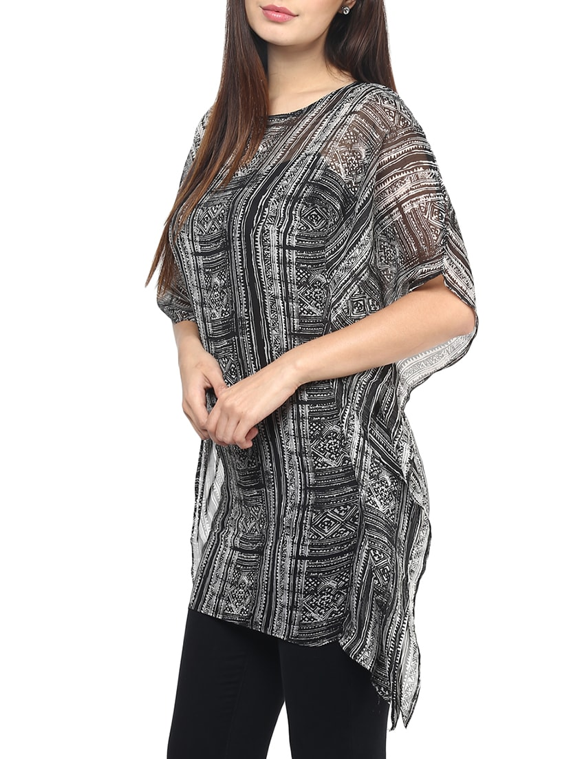 83a0afd73d Buy Printed Asymmetrical Sheer Kaftan by Fashion Flavor - Online shopping  for Kaftans in India