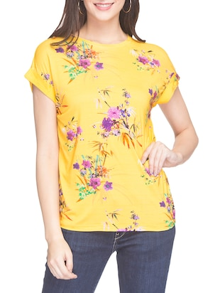 53cdc0788c05f Buy Yellow Floral Printed Top for Women from Globus for ₹309 at 69% off |  2019 Limeroad.com