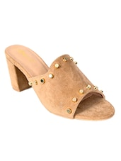 beige mules sandal -  online shopping for sandals