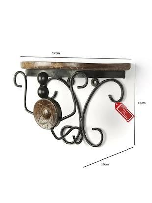 6d0a1086adc Wood   Wrought Iron Fancy Brown Wooden Handicrafts Wall Shelf - 14964034 -  Standard Image ...