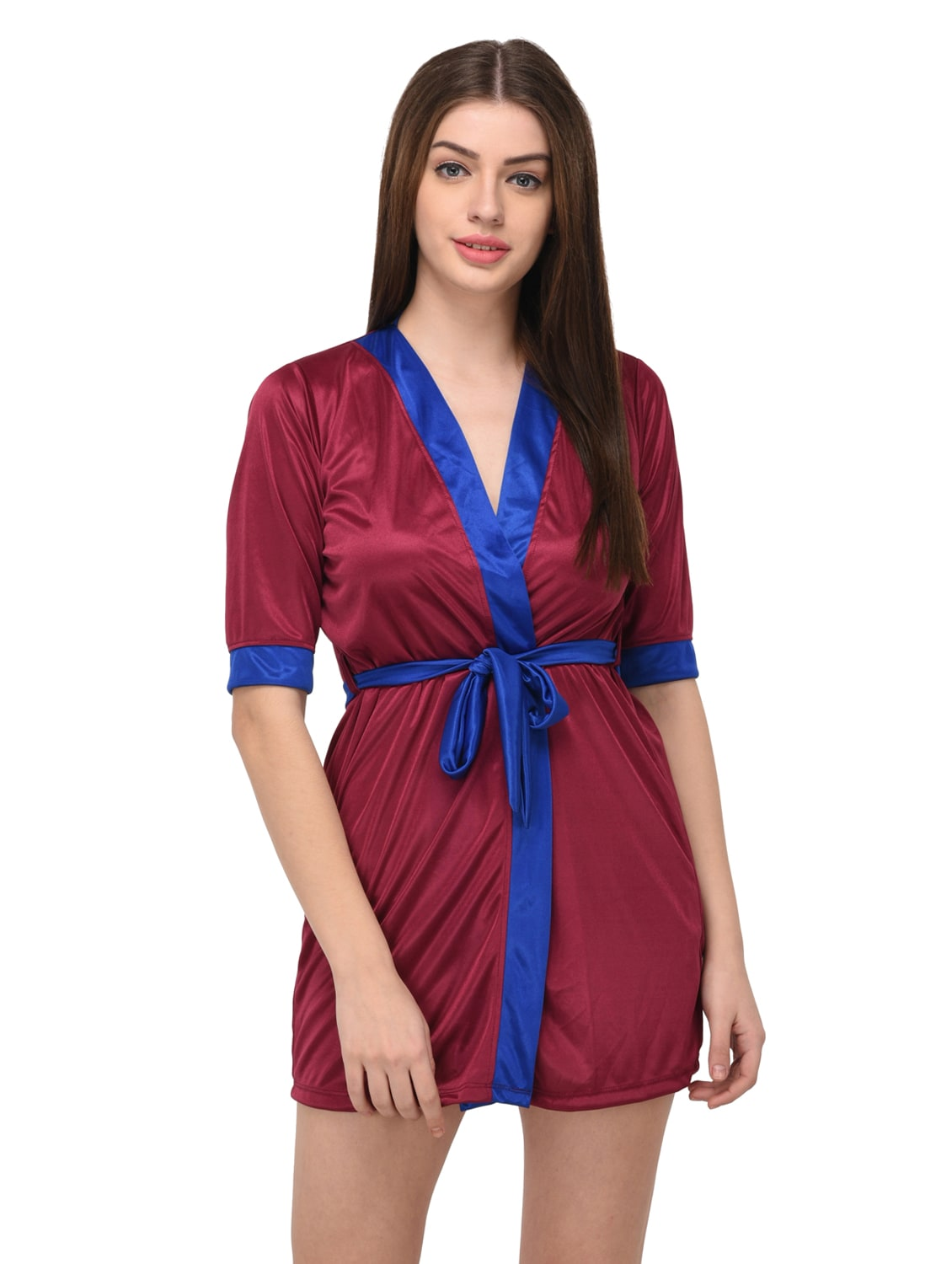 f8f90add10f5 Buy Pink Satin Sleepwear Robe With Bra Panty Set for Women from You Forever  for ₹428 at 57% off