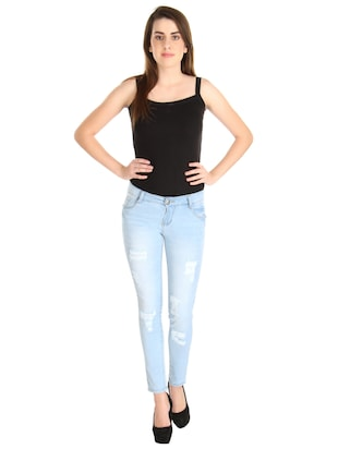Distressed low rise jeans - 14966660 - Standard Image - 4