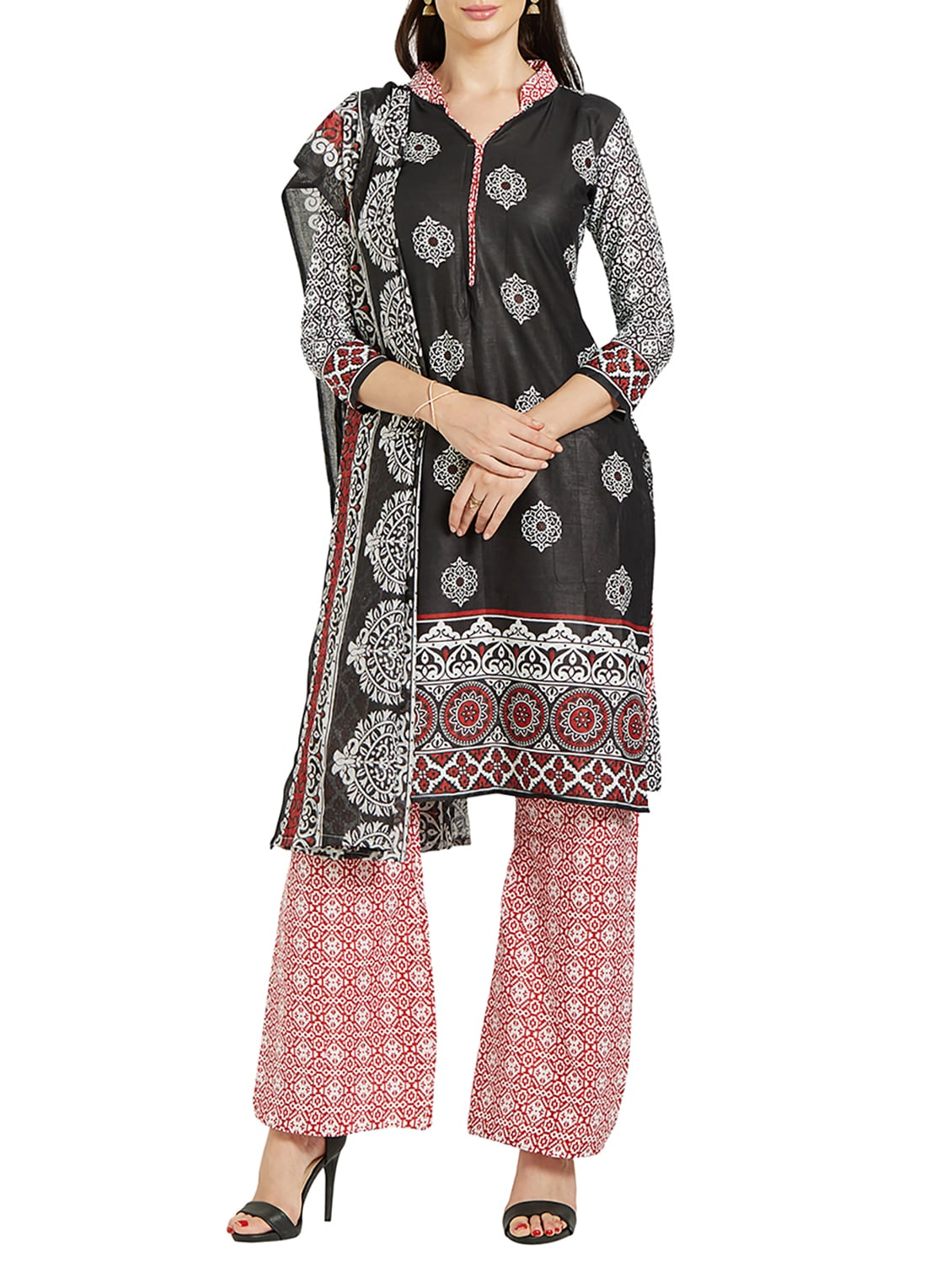 a46946262c Buy Black Cotton Palazzo Suits Unstitched Suit for Women from Silk Bazar  for ₹638 at 68% off | 2019 Limeroad.com
