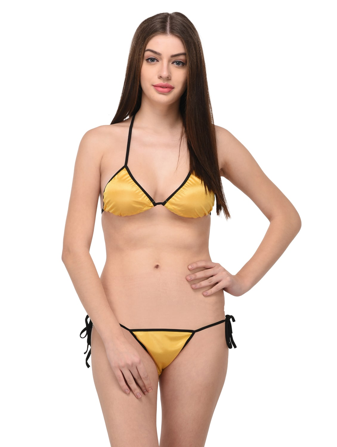 aa5f636ec0ffa Buy Yellow Satin Bras And Panty Set by You Forever - Online shopping for  Bras And Panty Set in India