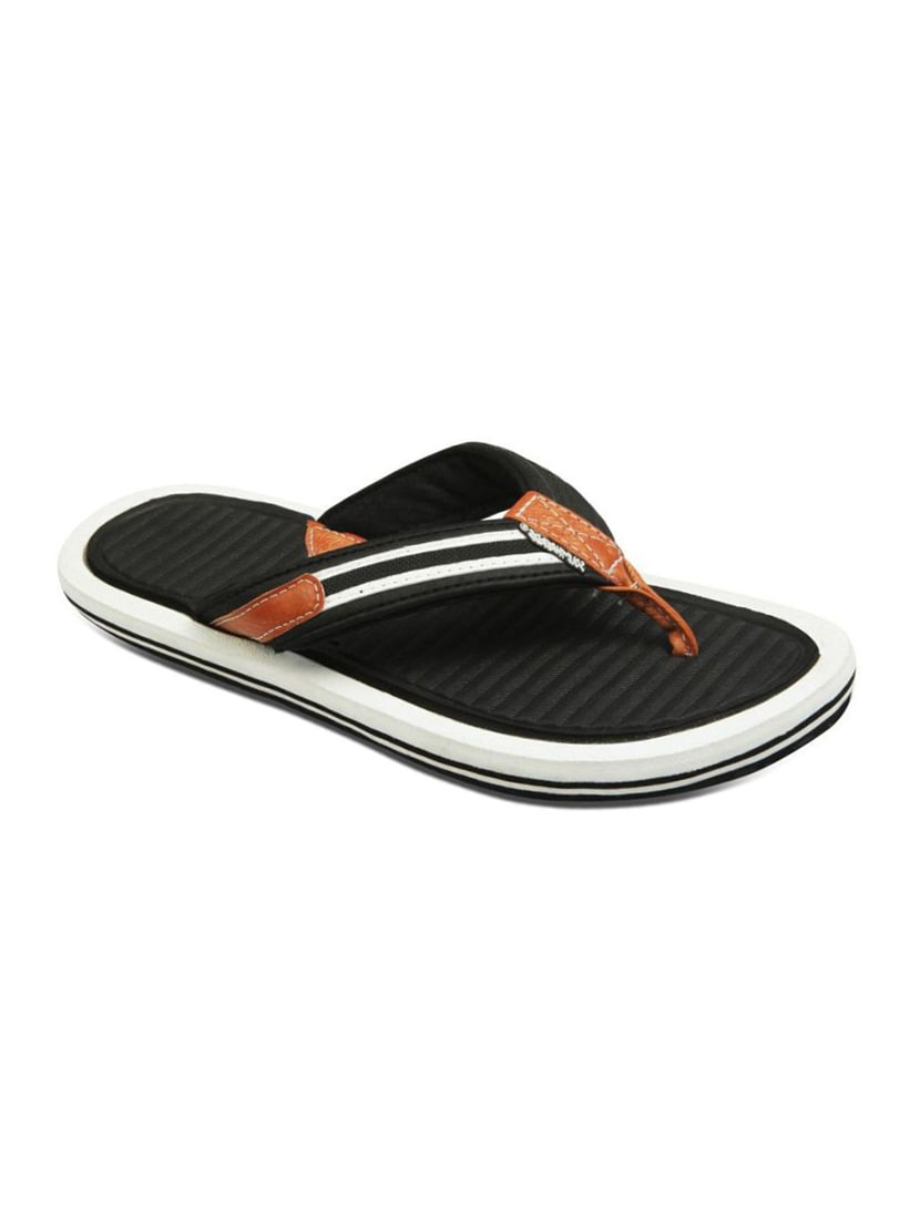 c26ac3f974989 Buy Black Leatherette Toe Separator Flip Flop for Men from Sole Threads for  ₹499 at 0% off