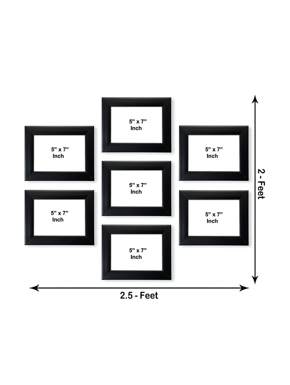 Buy Set Of 7 Collage Black Memory Wall Frames 75 X 7 Inch Black