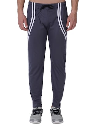 grey cotton  full length track pant - 14974192 - Standard Image - 1