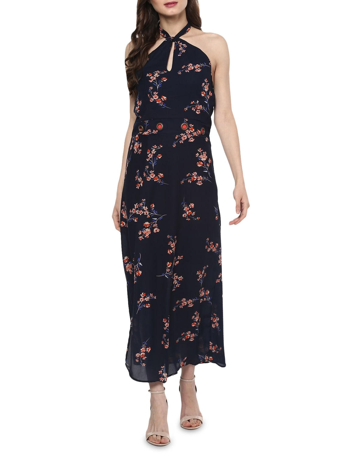 267a51a48f Buy Navy Blue Floral Maxi Dress by Zima Leto - Online shopping for Dresses  in India