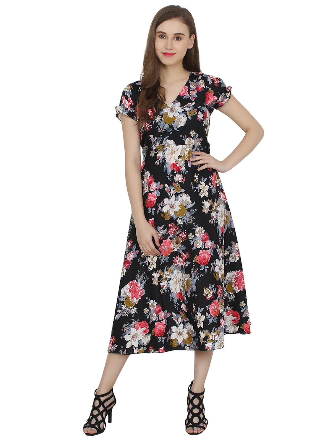 b7057382c977 Buy Flt   Flare Tie Back Floral Dress for Women from My Swag for ₹623 at  61% off