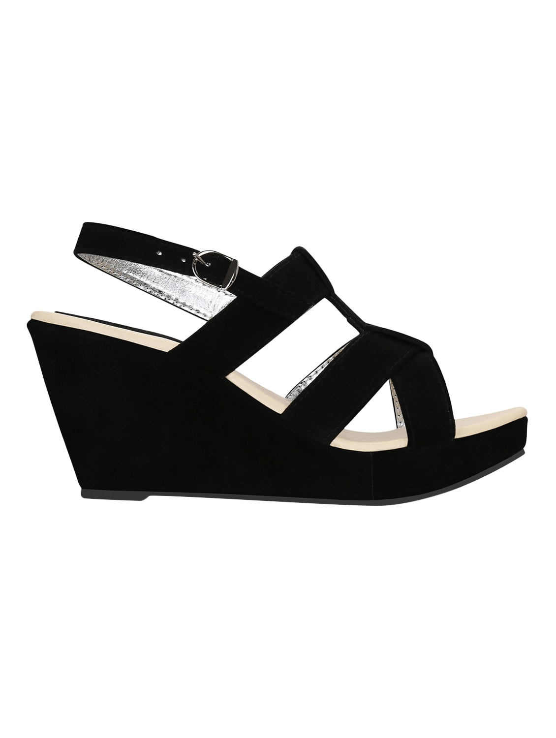 f980d9255bd0 Buy Kielz-black-wedge-sandals for Women from Kielz for ₹796 at 47% off