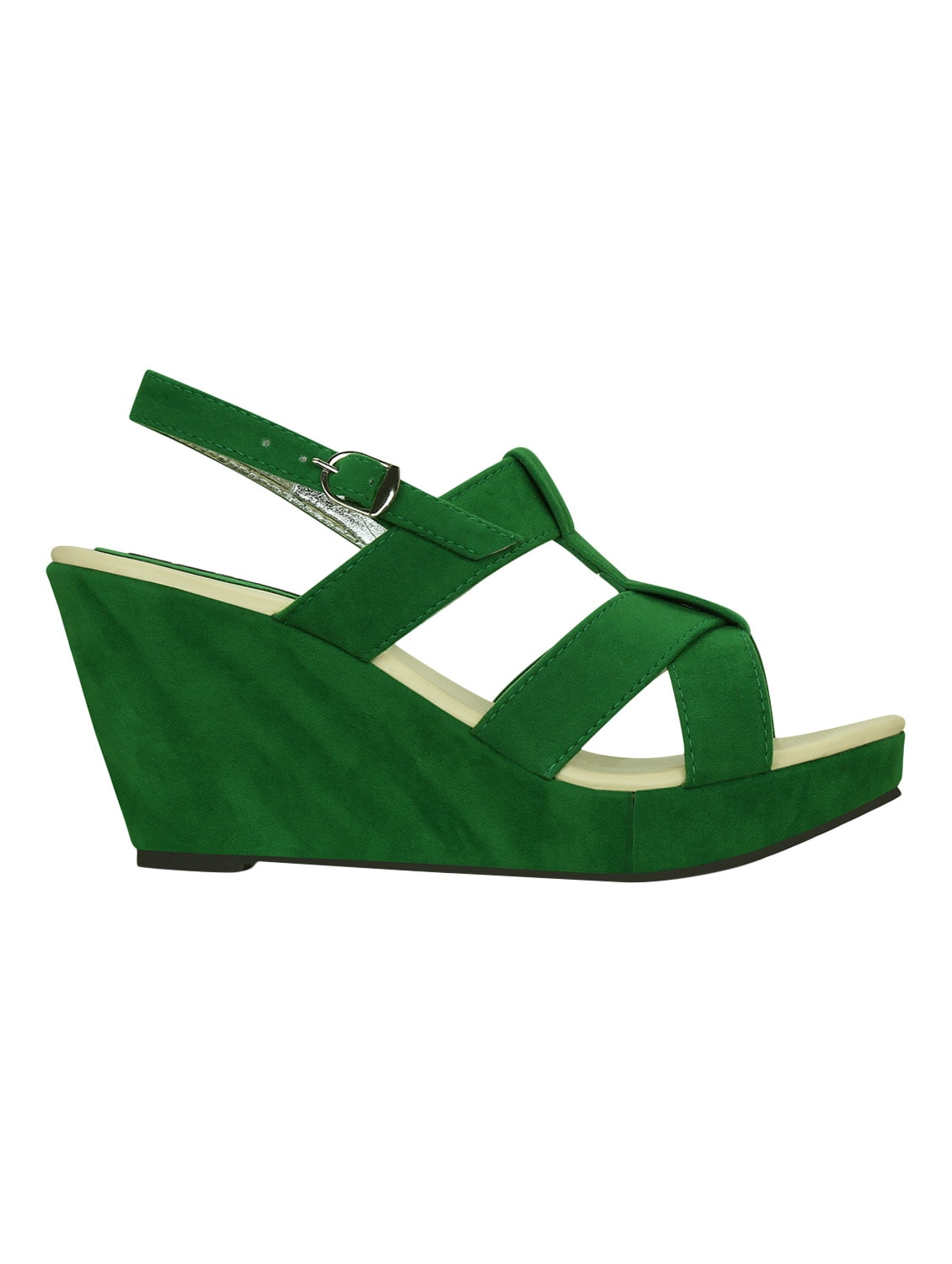 d5989960c86d Buy Kielz-green-wedge-sandals for Women from Kielz for ₹749 at 50% off