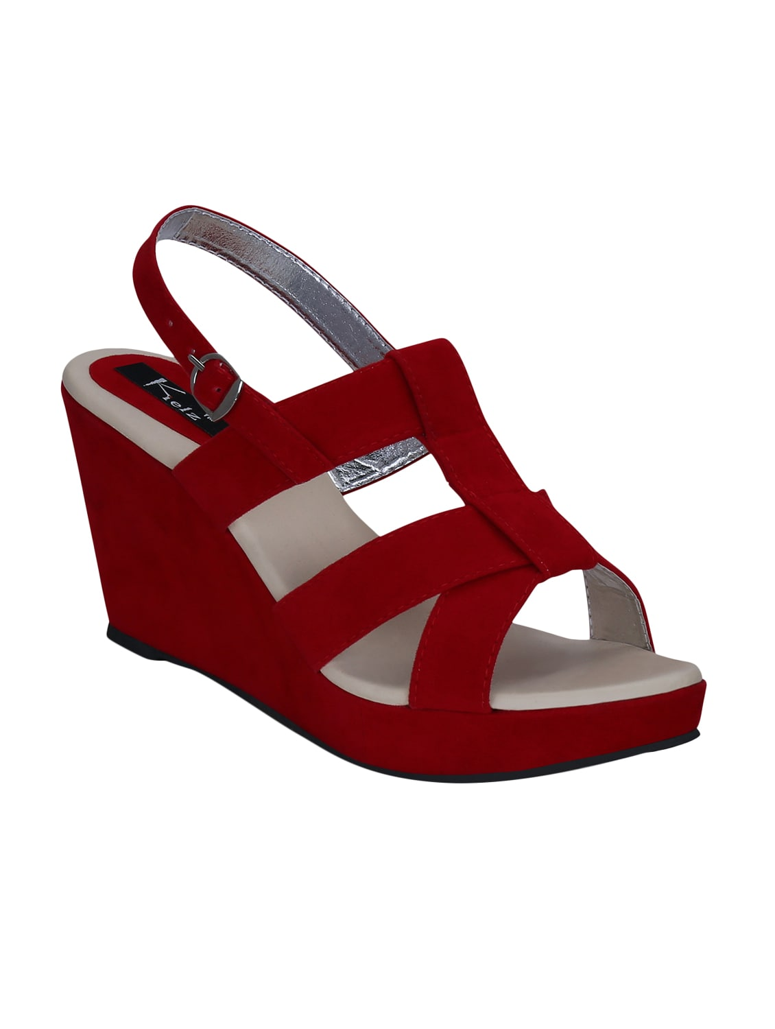 6433cd2c5 Buy Kielz-red-wedge-sandals for Women from Kielz for ₹796 at 47% off