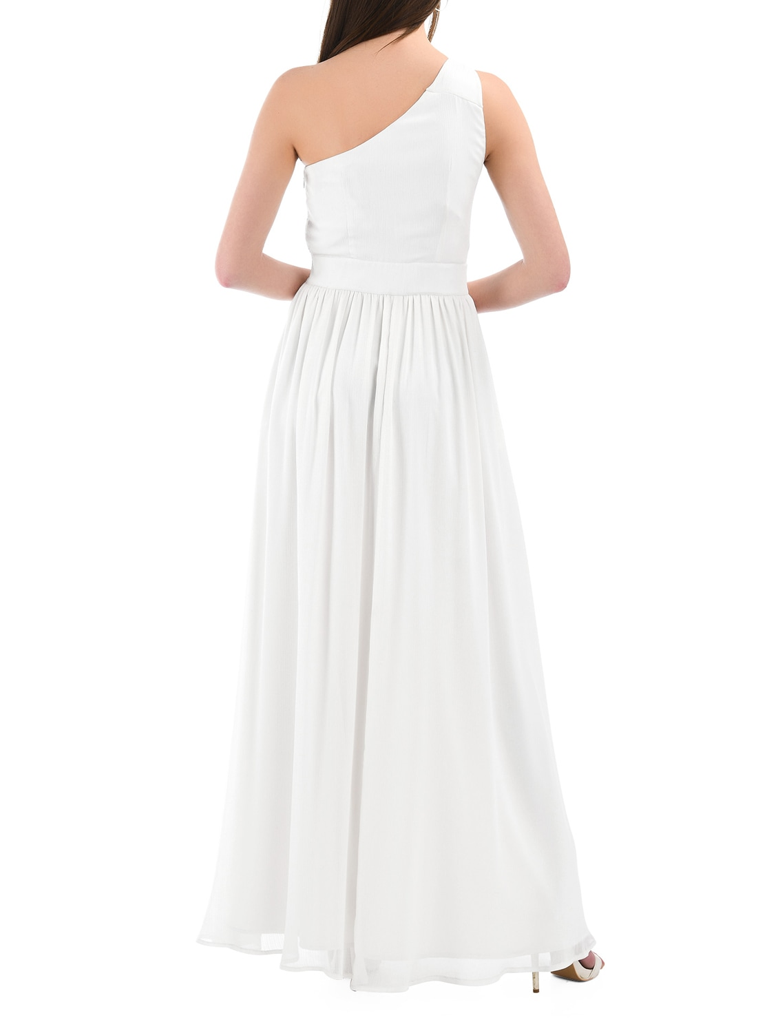 cdd0d641bd Buy White Solid Gown Dress by I Wear My Style - Online shopping for Dresses  in India