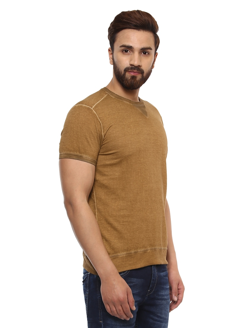 c9e80317 Buy Brown Cotton T-shirt for Men from Mufti for ₹899 at 47% off | 2019  Limeroad.com