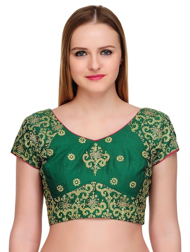 Fuchsia Designs green embroidered blouse - 14999487 - Standard Image - 1