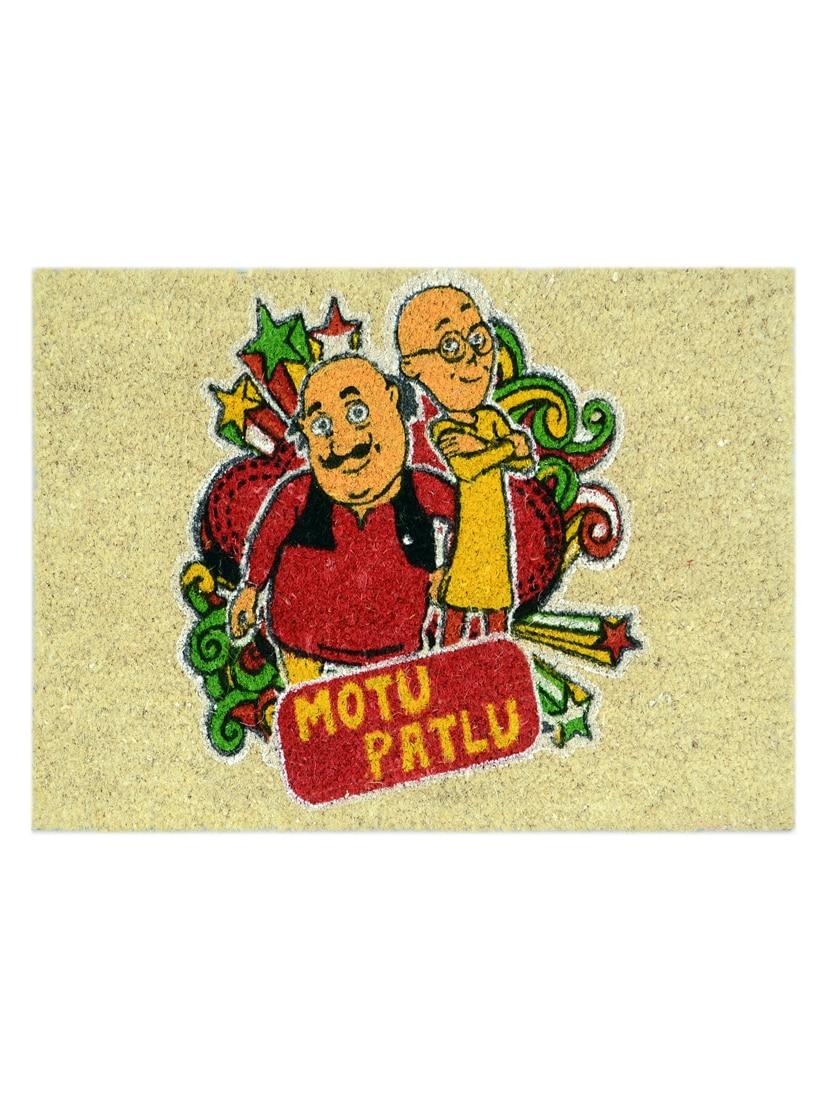 Buy Motu Patlu Heavy Duty Coir Printed Door Mat 40x60 Cm By Saral