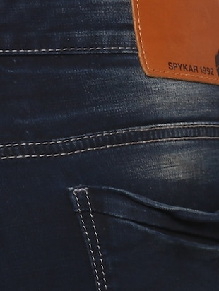navy blue light washed jeans - 15000630 - Standard Image - 4