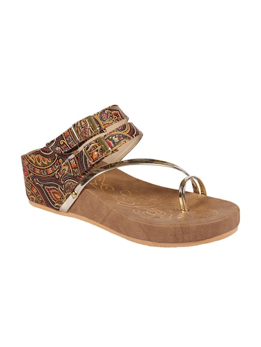 ANAND ARCHIES Brown Color Artificial Leather Wedges For Girl's & Women's ( AA-425-BROWN-36 ) - 15004004 - Standard Image - 1