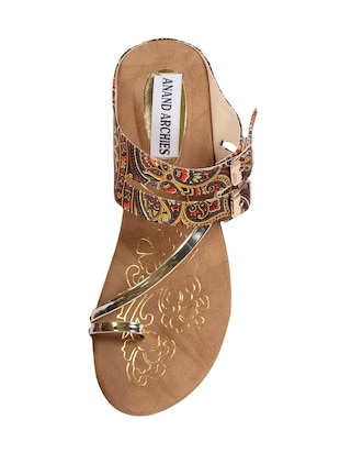 ANAND ARCHIES Brown Color Artificial Leather Wedges For Girl's & Women's ( AA-425-BROWN-36 ) - 15004004 - Standard Image - 4
