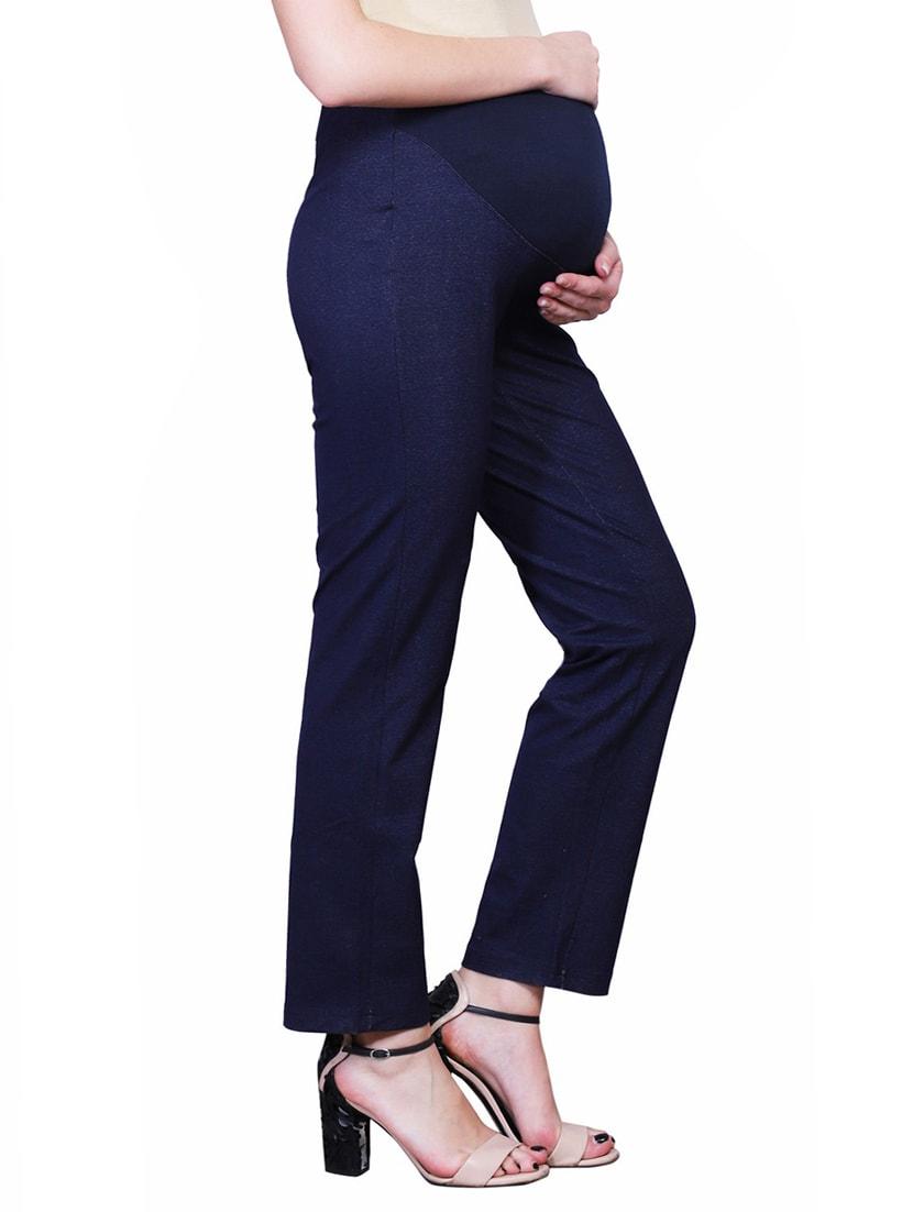 496bc4581986e Navy Blue Denim Maternity Wear Trouser