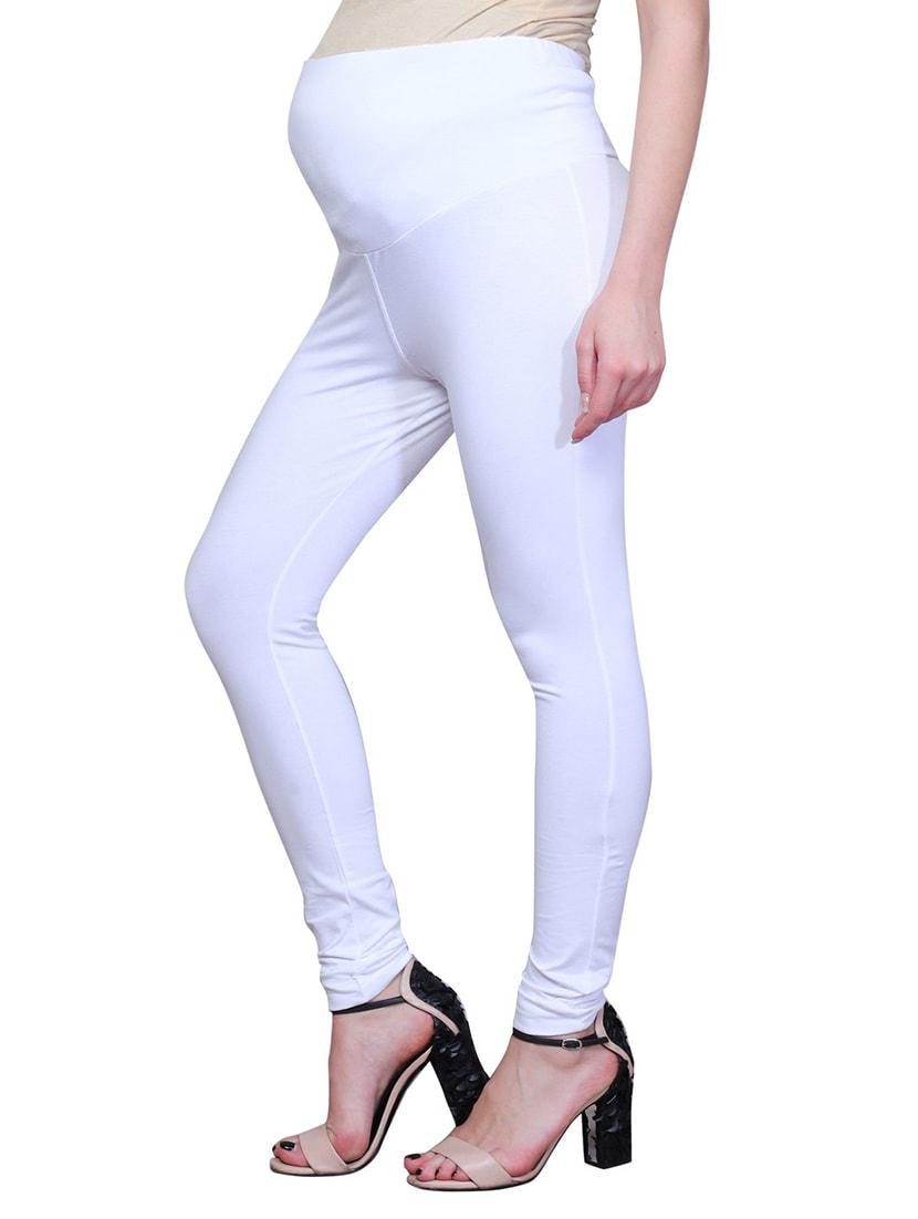 0cfe66b54d541 White Solid Maternity Wear Leggings