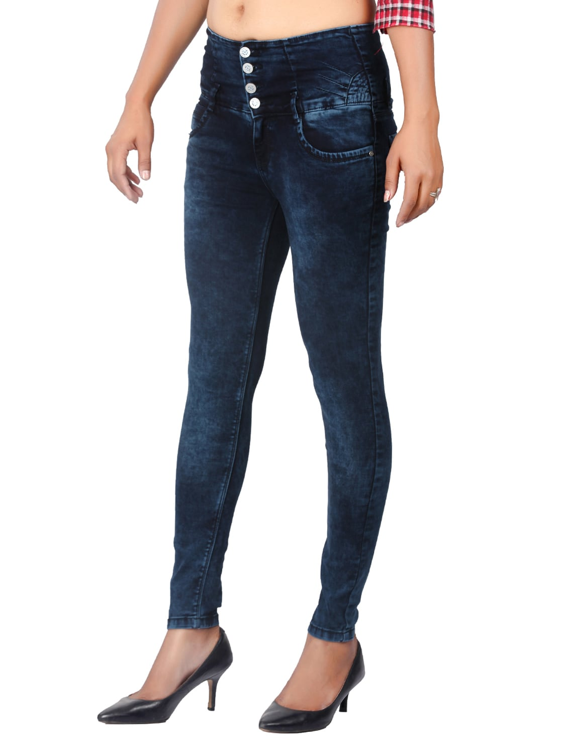 3aff66a6d0692 Buy Dark Blue Denim Jeans for Women from Fck-3 for ₹1518 at 2% off ...