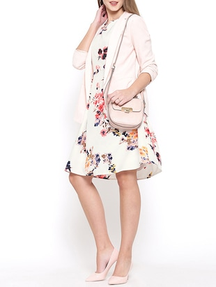 white floral fit and flare dress - 15011288 - Standard Image - 4