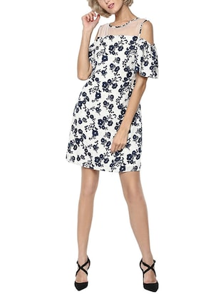 white floral a-line dress - 15011410 - Standard Image - 4