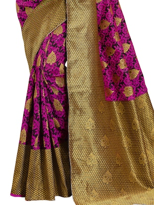 pink banarasi silk saree with blouse - 15013170 - Standard Image - 4