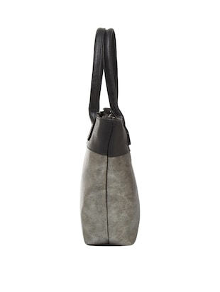 grey leather regular tote - 15013252 - Standard Image - 4