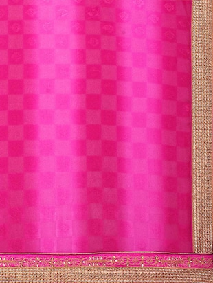 pink georgette printed saree with blouse - 15016754 - Standard Image - 4
