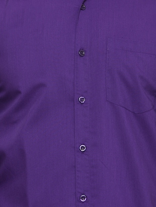 purple cotton casual shirt - 15017336 - Standard Image - 4