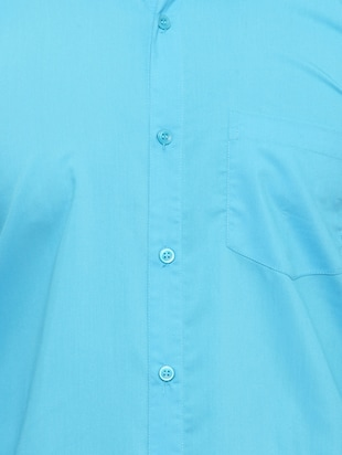 light blue cotton casual shirt - 15017338 - Standard Image - 4