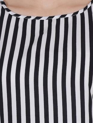 black striped crepe top - 15017361 - Standard Image - 4