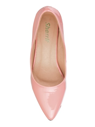pink patent leather slip on pumps - 15017655 - Standard Image - 4