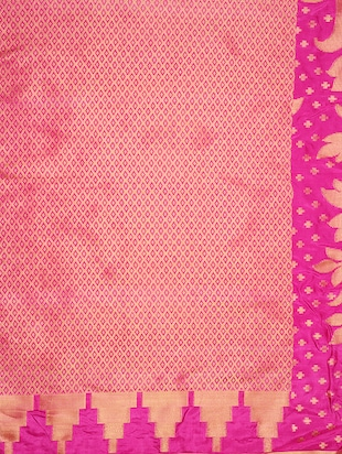 pink art silk kanjivaram saree with blouse - 15019296 - Standard Image - 4
