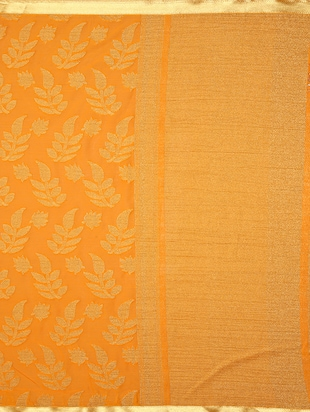 orange chiffon woven saree with blouse - 15019316 - Standard Image - 4