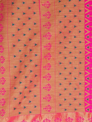 pink art silk woven saree with blouse - 15019334 - Standard Image - 4