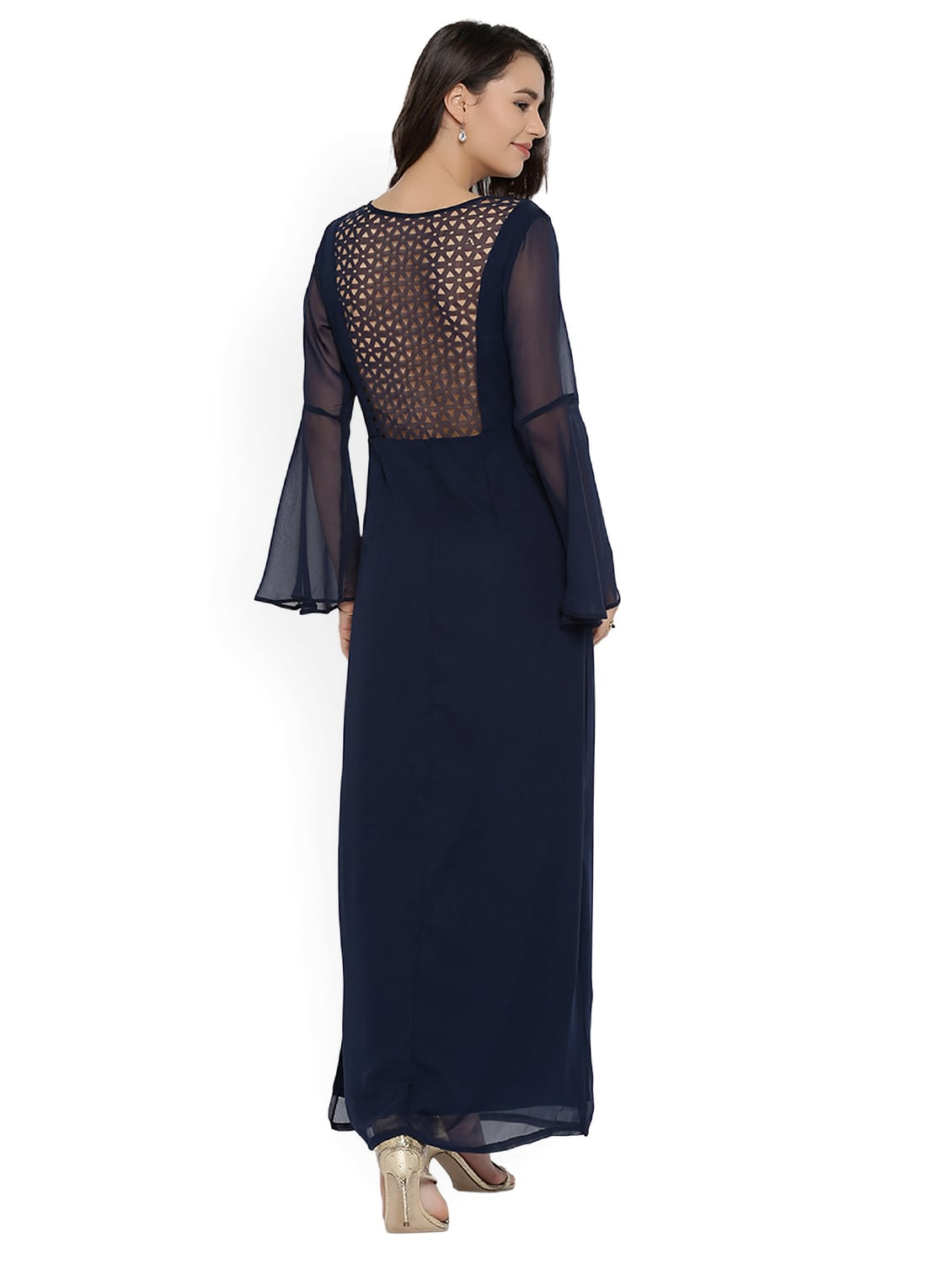1bcecb3a84e Buy Navy Blue Solid Maxi Dress for Women from Rare for ₹1020 at 51% off