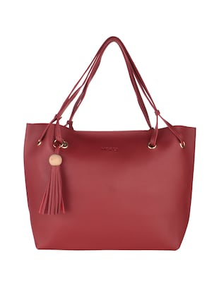 red leatherette handbag - 15020879 - Standard Image - 4