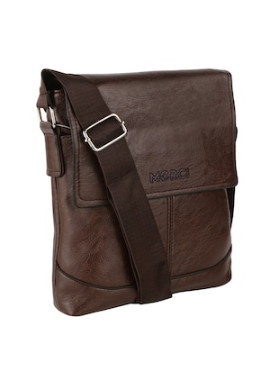 brown leatherette  regular sling bag - 15020892 - Standard Image - 4