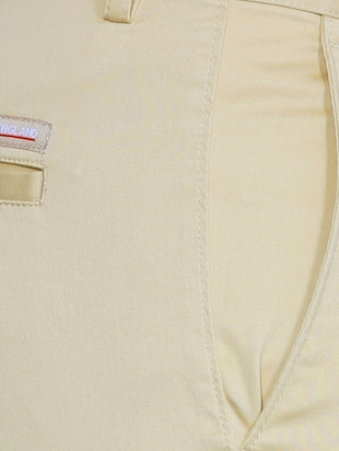 beige cotton flat front formal trouser - 15021307 - Standard Image - 4