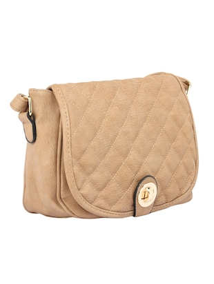 beige leatherette  regular sling bag - 15021681 - Standard Image - 4