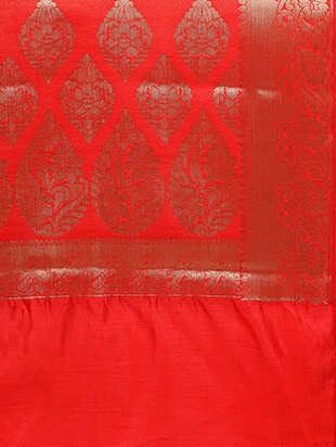 banarasi silk saree with blouse - 15023145 - Standard Image - 4