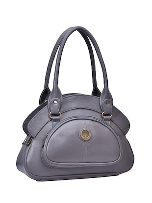 grey leatherette  regular handbag - 15023434 - Standard Image - 4