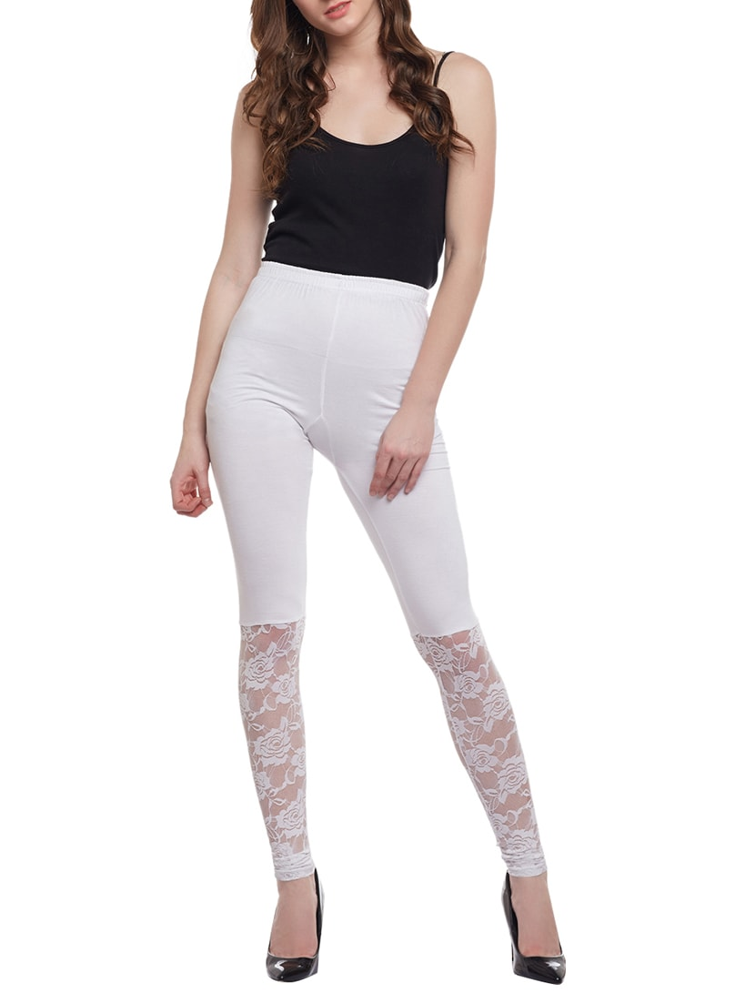 75a5c1a430d1d Buy Solid White Viscose Legging for Women from Castle Lifestyle for ₹695 at  0% off | 2019 Limeroad.com