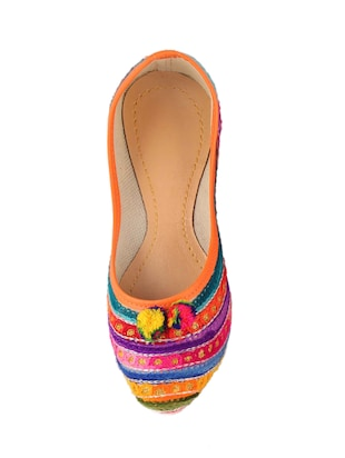 multi colored slip on jutis - 15024650 - Standard Image - 4