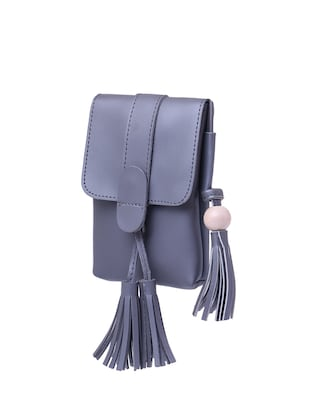 grey leatherette  regular sling bag - 15025087 - Standard Image - 4