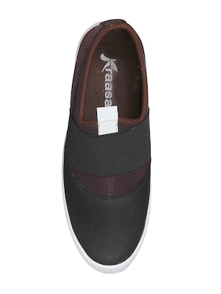 brown Canvas casual slipon - 15025475 - Standard Image - 4